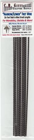 Mandolin/Ukelele/Dulcimer Fret Wire - Narrow/Lower Nickel Silver - Six Feet (Ukulele Fret Wire)