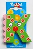 """""""crazy bird"""" Holzbuchstabe """"K""""  ca. 7 cm"""