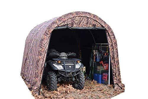 - Gino Development, Inc. Camoflange ATV Shelter, Mini Portable Garage, 6 Leg Steel Frame 10 x10 x8-Feet