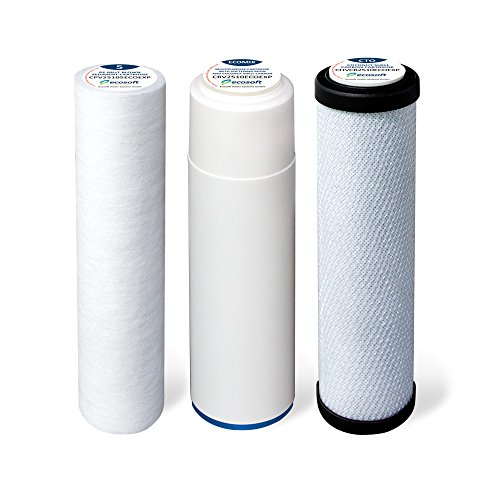 Ecosoft 3-Stage Under Sink Water Filter Replacements Drinking Water Cartridge For Use with Ecosoft 3 Stage Under-Counter Filtration by Ecosoft