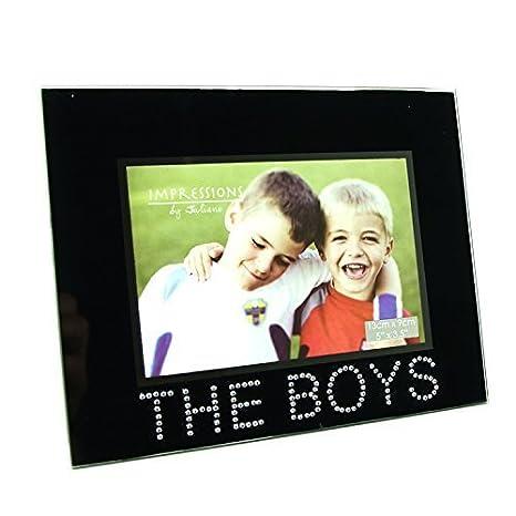 Black Glass The Boys Photo Picture Frame 5x35 Amazon