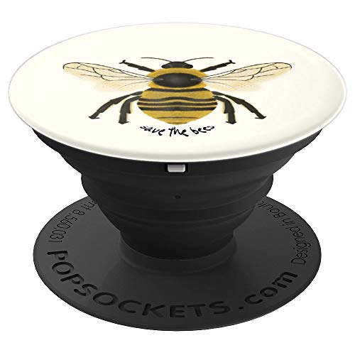 Bees Pop - Save the Bees - PopSockets Grip and Stand for Phones and Tablets
