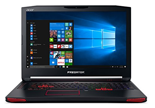 """Acer Predator 17 Gaming Laptop, Core i7, GeForce GTX 1070, 17.3\"" Full HD G-SYNC, 16GB DDR4, 256GB SSD, 1TB HDD, G9-793-79V5"""