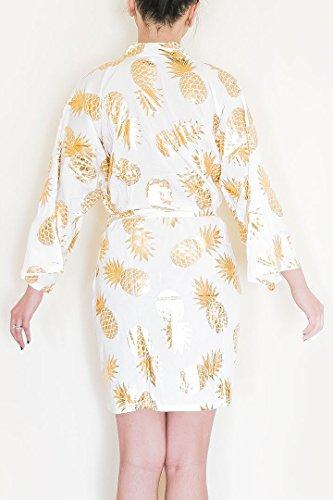 Diamond Stiletto Metallic Pineapple Rayon Robe (Small ()