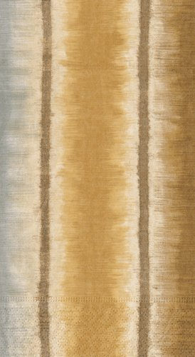 Hand Towels Bathroom Paper Guest Towels Ottoman Silk Stripe Gold Metallic PK 30