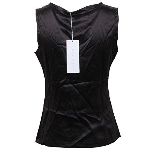 Silk Filippi T Black Canotta Donna Nero D1430 Fabiana Sleeveless shirt Seta Woman HYgTng6