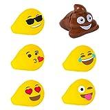 #7: Emoji Universe: Emoji LED Rings, 4 Pack