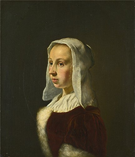 The Perfect Effect Canvas Of Oil Painting 'Frans Van Mieris The Elder Portrait Of The Artist's Wife Cunera Van Der Cock ' ,size: 20 X 23 Inch / 51 X 59 Cm ,this High Quality Art Decorative Prints On Canvas Is Fit For Bar Artwork And Home Gallery Art And Gifts -