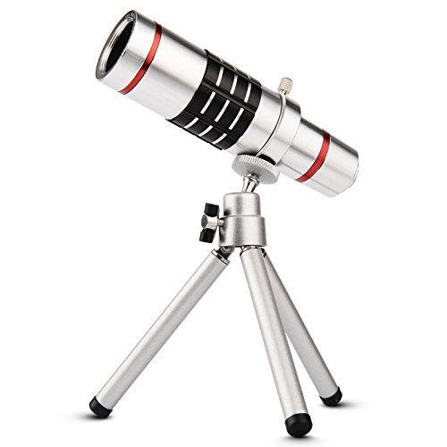 18x Optical Telescope Telephoto Lens with Tripod ,Aluminum Telephone Telescope Telephoto Phone Lens for Universal Mobile Phone