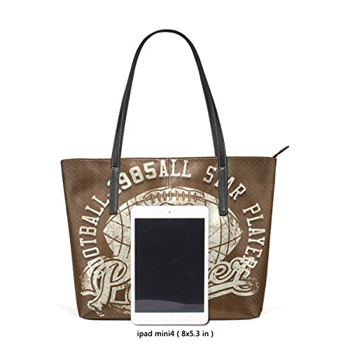 Bag Medio 003 Leather Donne Football Borse Shoulder Le Tote Per E Americano Borsa Multicolore Pu Coosun XpqHqw