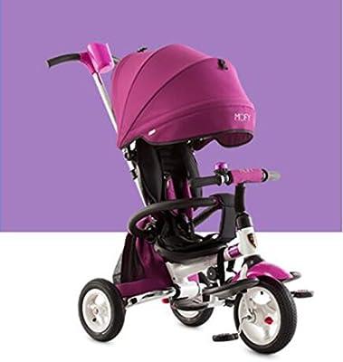Guo shop- Triciclo plegable de los niños, bici, carro inflable del bebé, bici del bebé, carro de bebé bicicletas para niños (Color : Purple)
