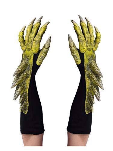 Zagone Studios Green Dragon Halloween Costume Gloves -