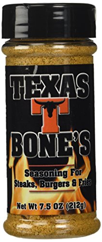 - Texas T-Bones Rub and Seasoning for Steaks, Burgers and Fries 7.5 Ounce