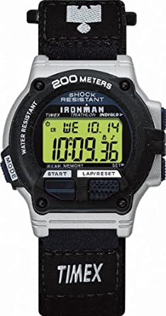 ef8b39fc0d1bb Timex Gents Ironman 8 Lap Shock Resistant Watch - T62962P4  Timex   Amazon.co.uk  Watches