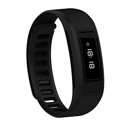 YAMAY® Waterproof IP57 Bluetooth Smartband Smart Wristband for Android iOS iPhone Wrist Band Bracelet Stopwatch Health Acivity Tracker Pedometer for Sleep Calorie Sport Running Women Men Girls Black