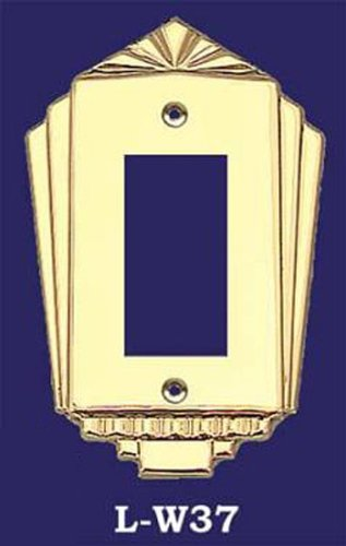 (Art Deco Style GFI Or Rocker Switch Plate Cover (L-W37))