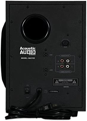 Acoustic Audio LED Bluetooth 2.1-Channel Home Theater Stereo System Black (AA2105) 41A8m9vTqUL