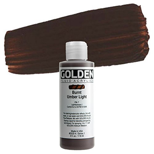 4 Oz Fluid Acrylic Color Paint Color: Burnt Umber Light
