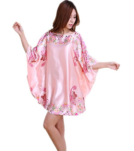 SexyTown Women's Plus Size Short Batwing Sleeve Nightgown (Pink) ()