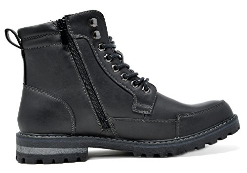 Bruno Marc Heren Military Motorcycle Combat Boots Engle-01-black