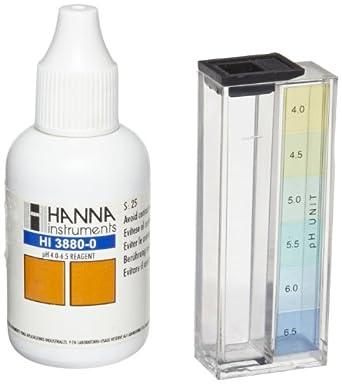 Hanna Instruments HI3880 pH Test Kit, 4.0-6.5 pH, For 100 Tests