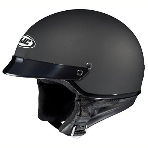 HJC CS-2N Motorcycle Half-Helmet (Flat Black, Small)