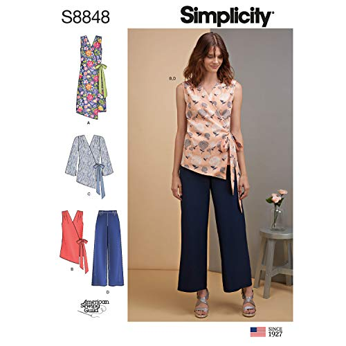 Simplicity US8848H5 Pattern S8848 Misses' Dress, Tops and Pants, H5 (6-8-10-12-14)