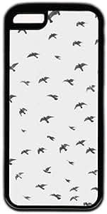 Black And White Vintage Free Birds Pattern Theme Iphone 5c Case