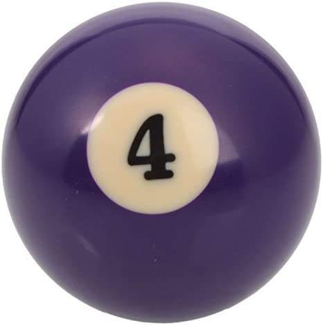 Mzamzi - Gran valor bolas de billar número 4 de billar bola: Amazon.es: Deportes y aire libre