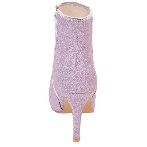 AIYOUMEI Women's Classic Boot Purple wPJ70iI