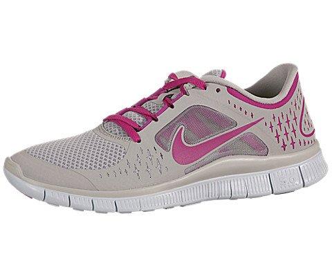Women's Nike Free Run +3 510643 006 Granite Fireberry Sail Fireberry Running (Women's 6.5, Granite/Fireberry-Sail-Fireberry)