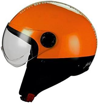 L Orange Neon BHR 32885 Casco Moto Demi-Jet Linea One 801