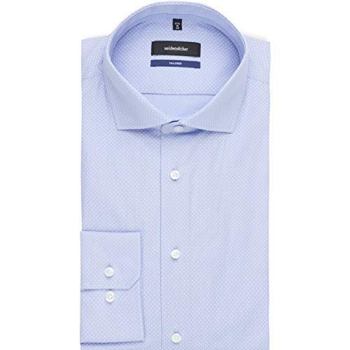 Mit blau Kent Tailored Hombre Soft Kragen Para Langarm Azul Gepunktet Seidensticker 11 Camisa PERq1Ww