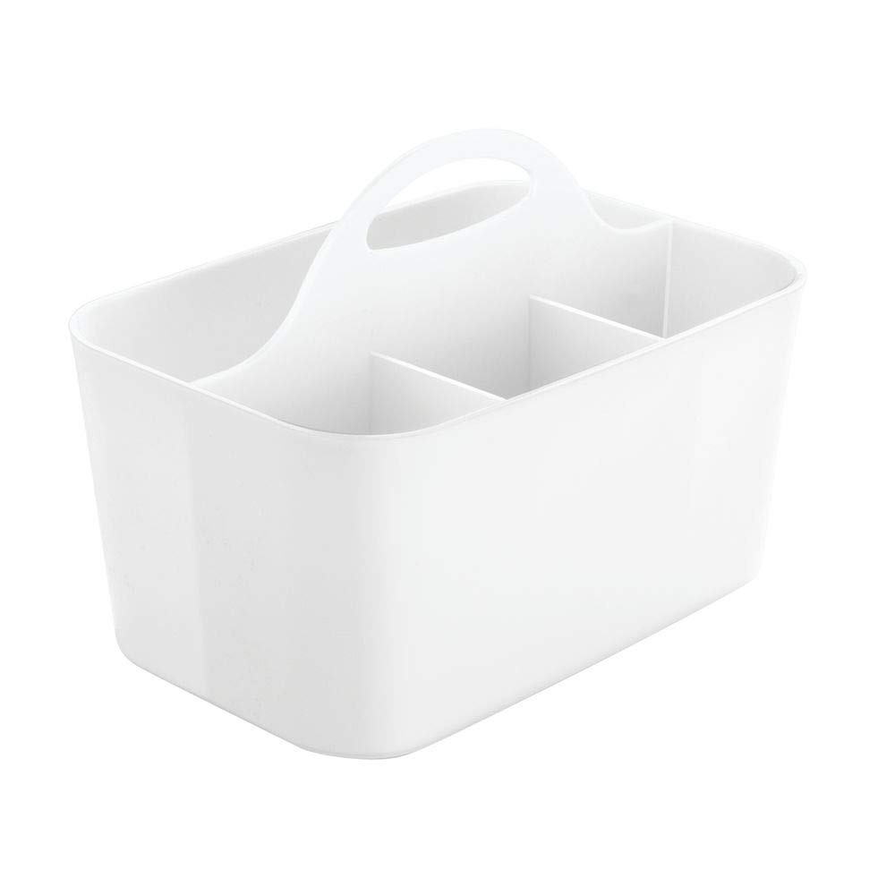 Comodo salvaspazio Cucina Grigio Chiaro Organizer Cucina con 4 scompartimenti ed Un Gancio per trasportarlo mDesign Set da 2 Portaposate in plastica Facilmente trasportabili
