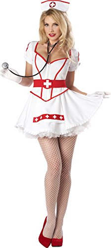 California Costumes Nurse Heart Breaker Set, White, Medium ()