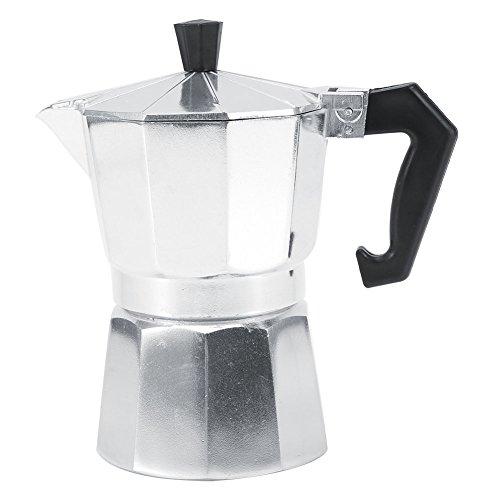 Cafeteras Italianas de Acero Inoxidable Cafetera Espresso Moka Express Cafetera de Aluminio, 3 tazas/6 tazas/9 tazas/12...