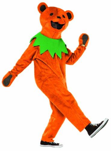 Rasta Imposta Grateful Dead Dancing Bear Costume, Orange, Teen (Dancing With The Stars Costumes 2015)