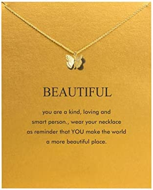 Baydurcan Hundred River Friendship Anchor Compass Necklace Good Luck Elephant Pendant Chain Necklace with Message Card