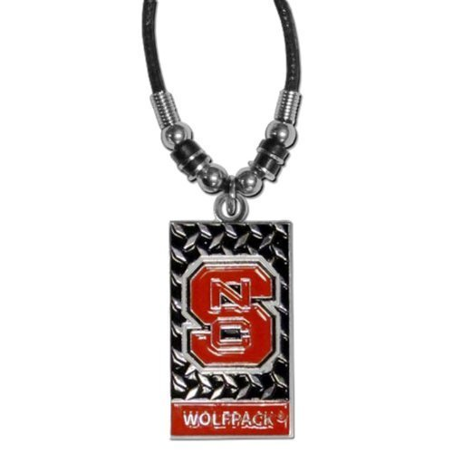 - NCAA North Carolina State Wolfpack Diamond Plate Rope Necklace, 20-Inch