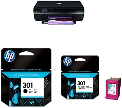 HP ENVY 4500 pack - Impresora multifunción de tinta color + Cartucho de tinta original negro (301) + Cartucho de tinta original tricolor (301): Amazon.es: Informática