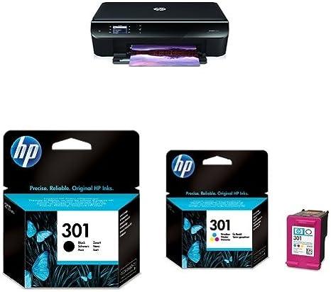HP ENVY 4500 pack - Impresora multifunción de tinta color + Cartucho de tinta original negro (301) + Cartucho de tinta original tricolor (301): Amazon.es: Informática