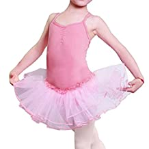 Imixshop Kids Girls Camisole Ballet Tutu Leotard Dress Bodysuit Dance Braces Skirts
