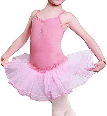 Imixcity Baile de Ballet Jersey Camiseta de Niña Maillot Traje de Ballet Leotardo Princess Girls Vestido de Pantera Falda de Tul Traje de Carnaval ...