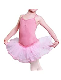 Girls' Camisole Leotard Ballet Dancing Tutu Skirt Fancy Fairy Gymnastics