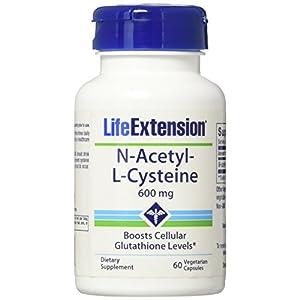 Life Extension N Acetyl L Cysteine (NAC) 60 600mg Veggie Caps