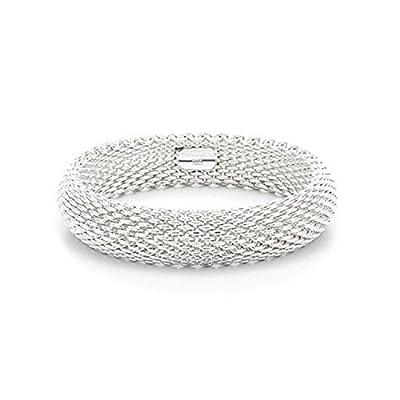 IVYRISE High Quality Bracelet Silver Plated Jewelry Fashion Sideway Flat Link Chain Bracelet