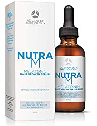 New - NutraM Melatonin Clinical Hair Growth Serum - Hair Loss Treatments, Reverse Thinning Hair with Melatonin, DHT Blockers, and Hair Growth for Men and Women – Guaranteed – Residue Free