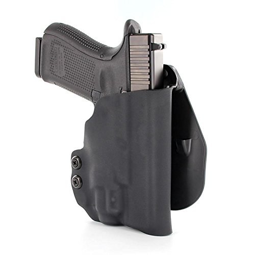 OWB Kydex Paddle Holster - OLIGHT PL-Mini 2 - Black (Right-Hand, SIG 250 Compact)