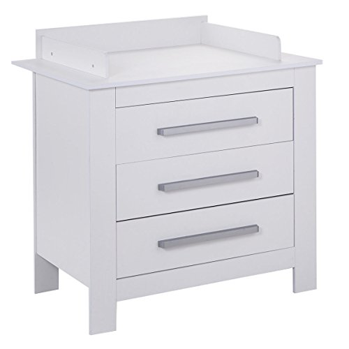Costzon White Changing Table Dresser Baby Room Nursery Furniture Diaper Station 3 Drawer by Costzon