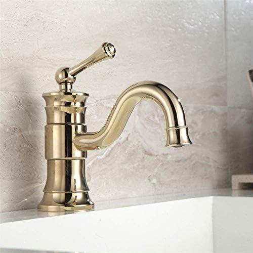 CHENBIN-BB 蛇口キッチンタップ ユニークなデザインの豪華なバスルームのシンクの蛇口製品ゴールデン・プレート仕上げ単穴ゴールド蛇口